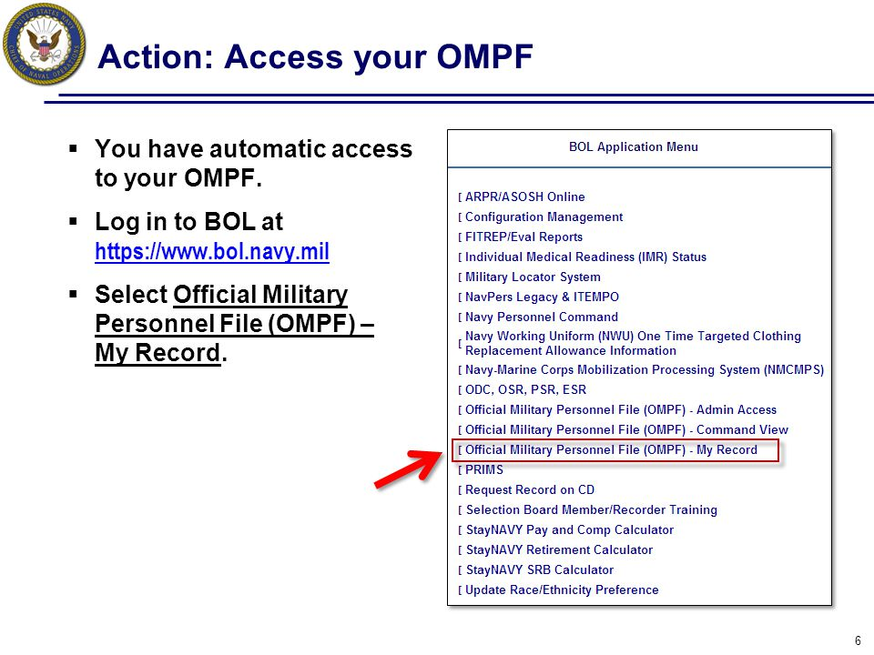 Action: Navigate and View OMPF Documents Click on a highlighted row to download individual documents.