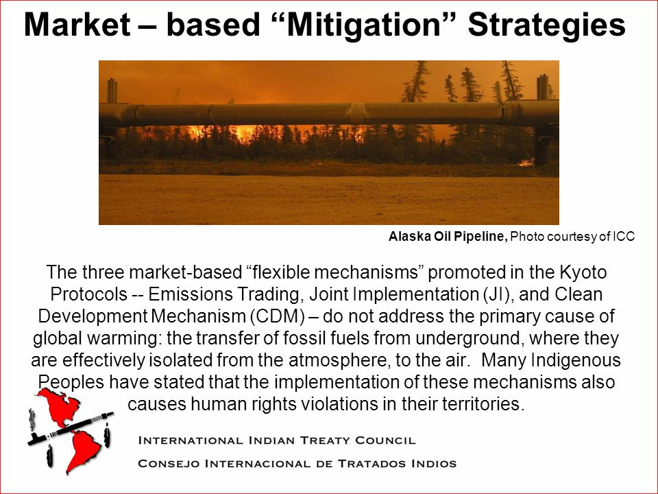 The three market-based flexible mechanisms promoted in the Kyoto Protocols -- Emissions Trading, Joint Implementation (JI), and Clean Development Mechanism (CDM) – do not address the primary cause of global warming: the transfer of fossil fuels from underground, where they are effectively isolated from the atmosphere, to the air.