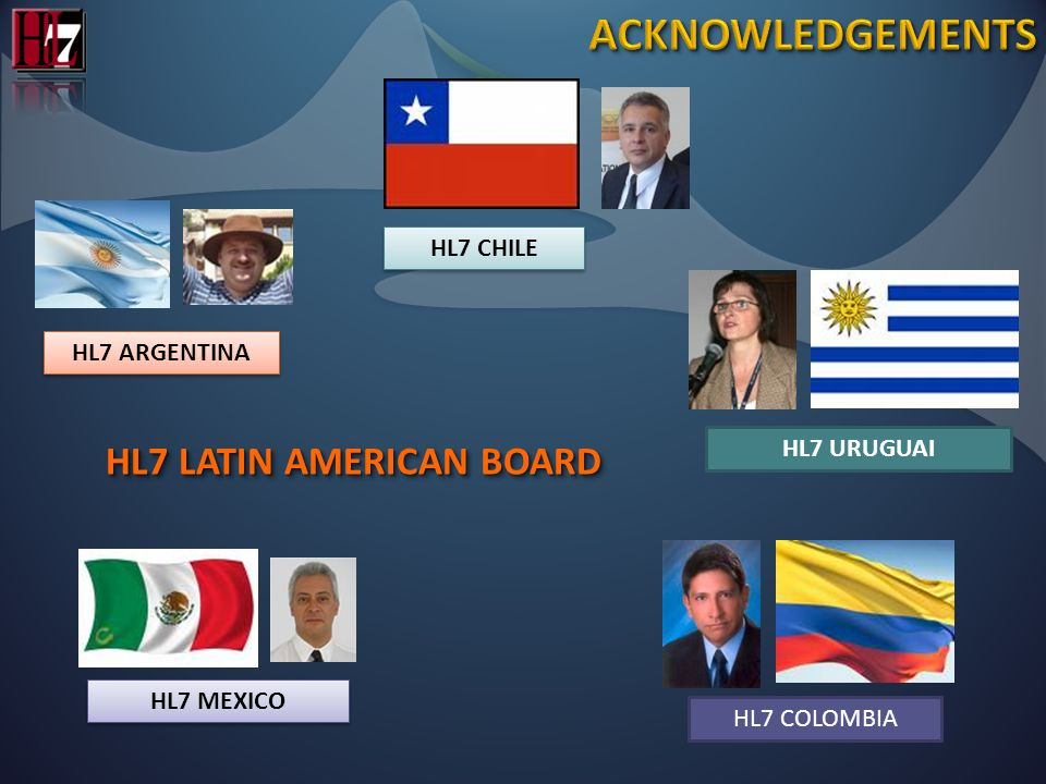 HL7 LATIN AMERICAN BOARD HL7 ARGENTINA HL7 CHILE HL7 MEXICO HL7 URUGUAIHL7 COLOMBIA