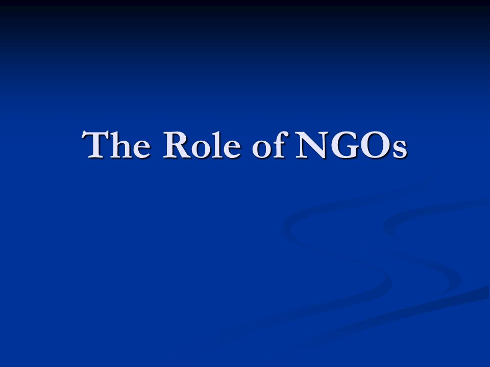 In this Session Learn how NGOs participate in the intergovernmental arena, including the negotiation of MEAs.