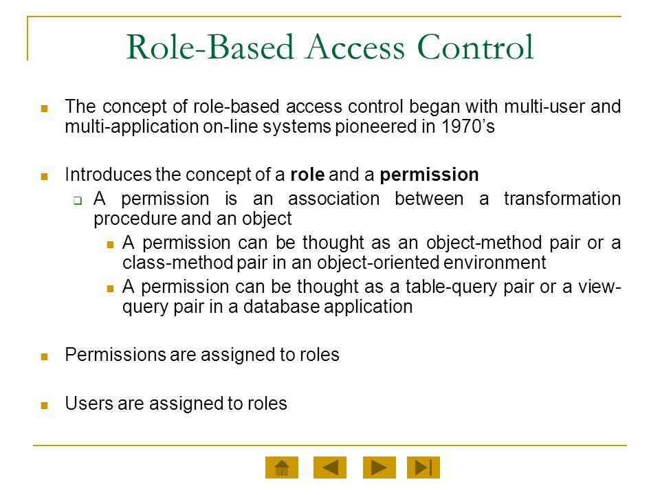 OBJECTS OS Files or Directories DB Columns, Rows, Tables, or Views Printer Disk Space Lock Mechanisms RBAC will deal with all the objects listed in the permissions assigned to roles.