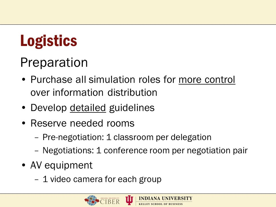 P. Roberto GarciaFeb. 2, 2007School of Education Breeze Workshop Logistics Preparation Purchase all simulation roles for more control over information
