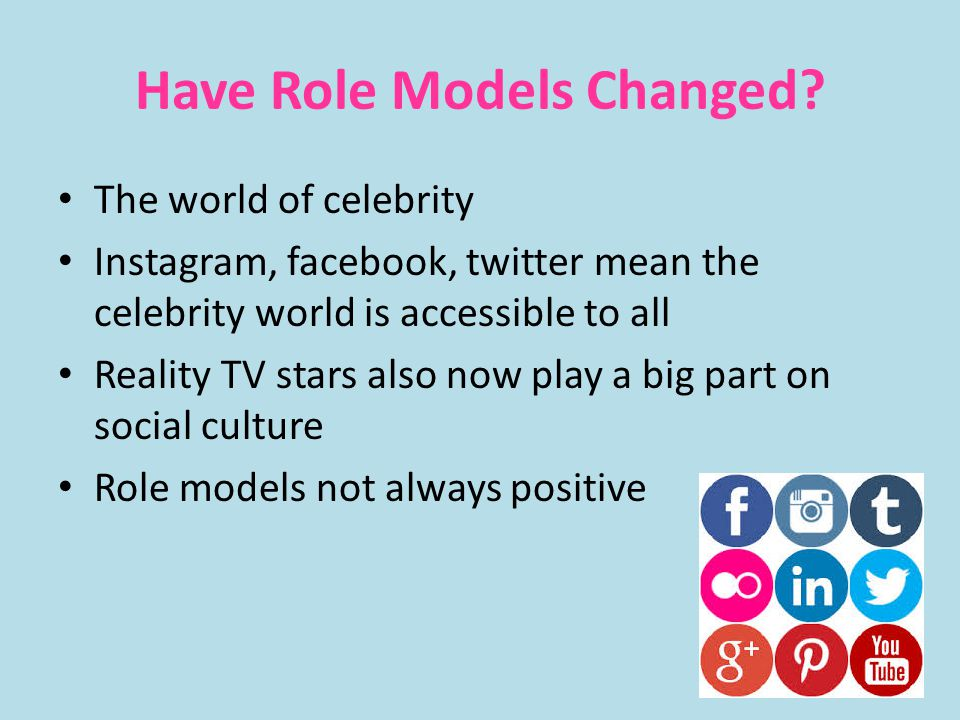 Have Role Models Changed.