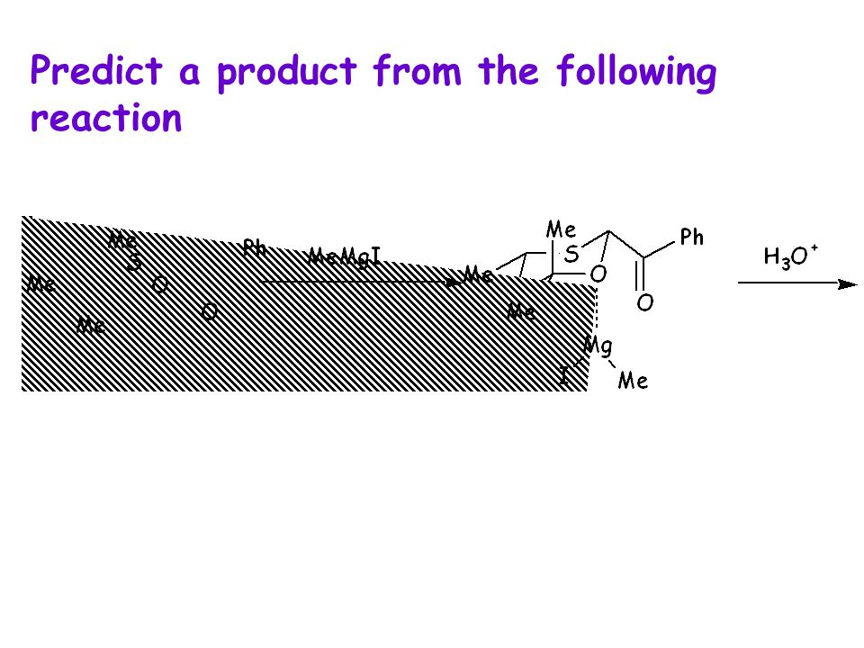 Predict a product from the following reaction