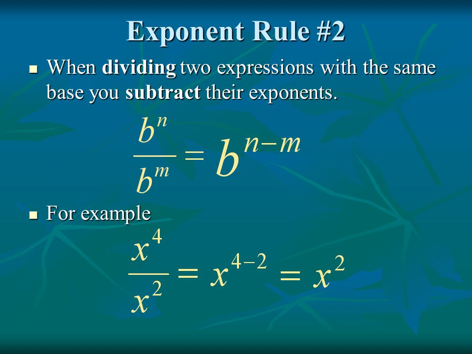 Zero Exponent Try it on your own Try it on your own ( if a ≠ 0) ( if h ≠ 0)