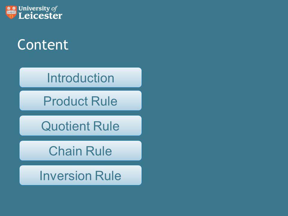 Quotient rule example Find. Next Product Quotient ChainInversion Intro