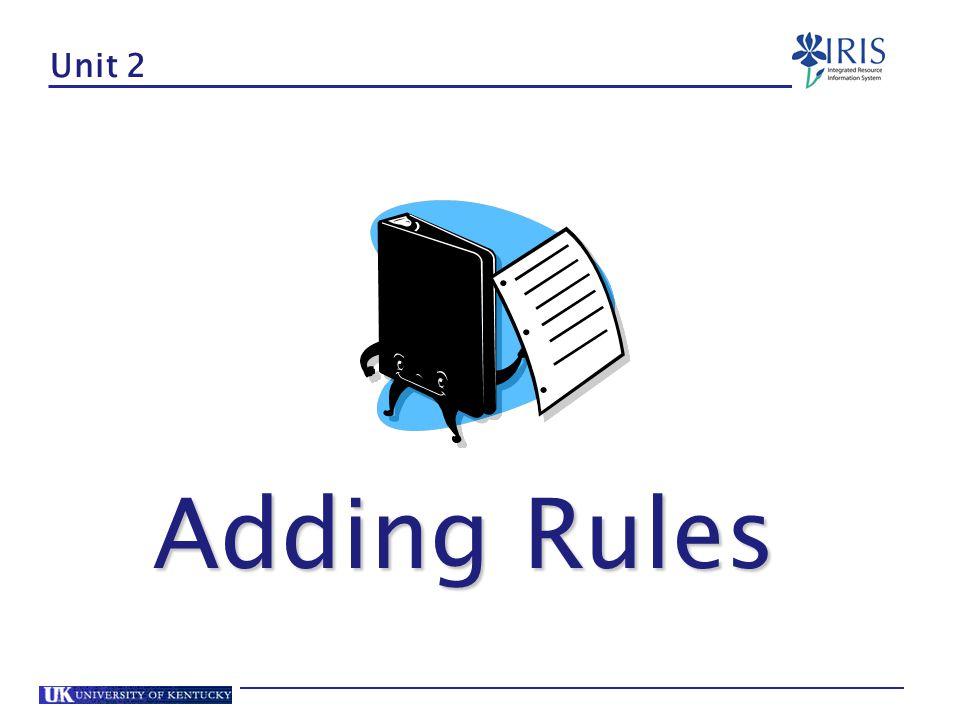 Unit 2 Adding Rules