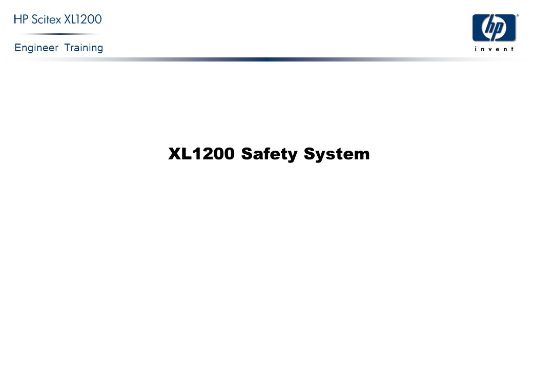 Engineer Training XL1200 Safety System