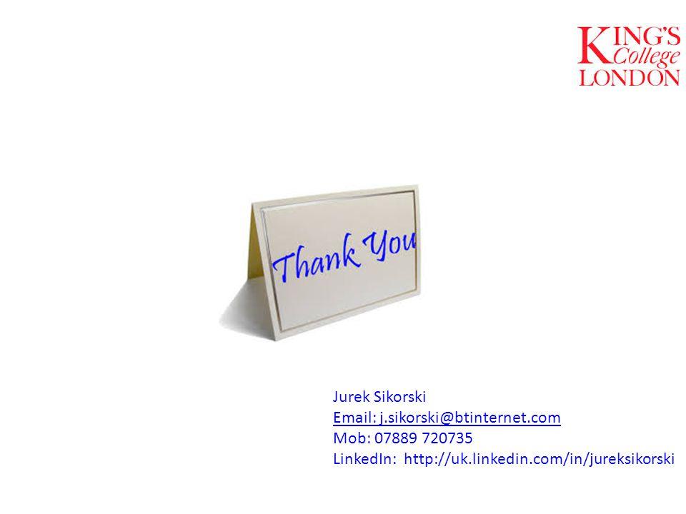 Jurek Sikorski Email: j.sikorski@btinternet.com Mob: 07889 720735 LinkedIn: http://uk.linkedin.com/in/jureksikorski