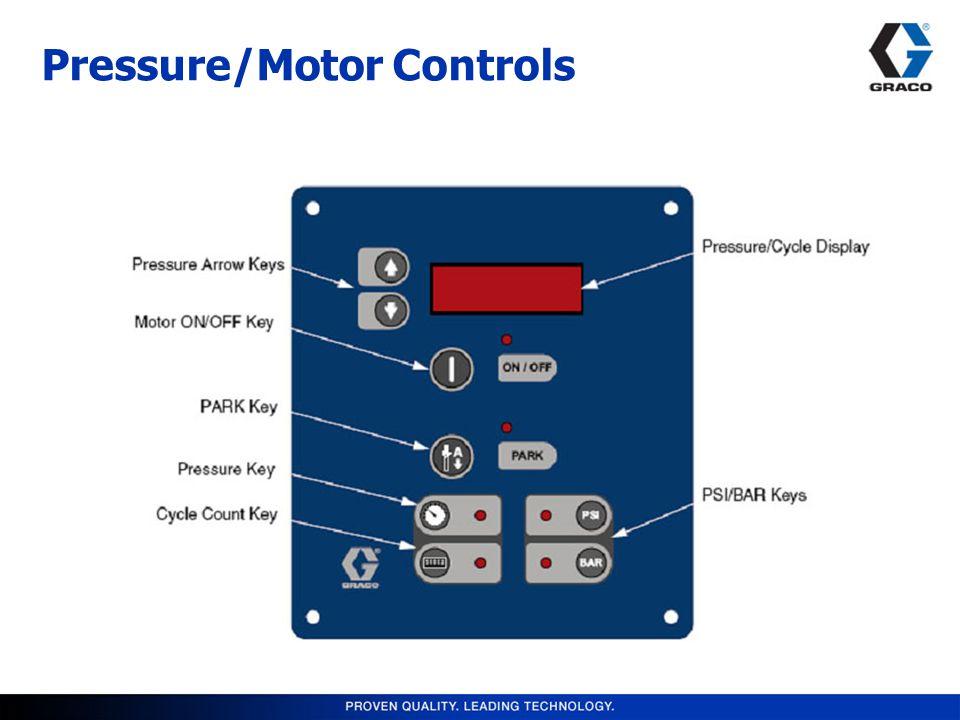 Pressure/Motor Controls