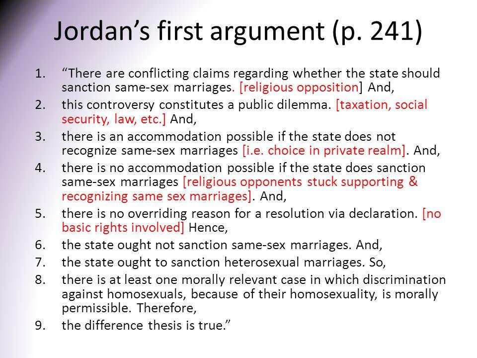 Jordan's first argument (p.