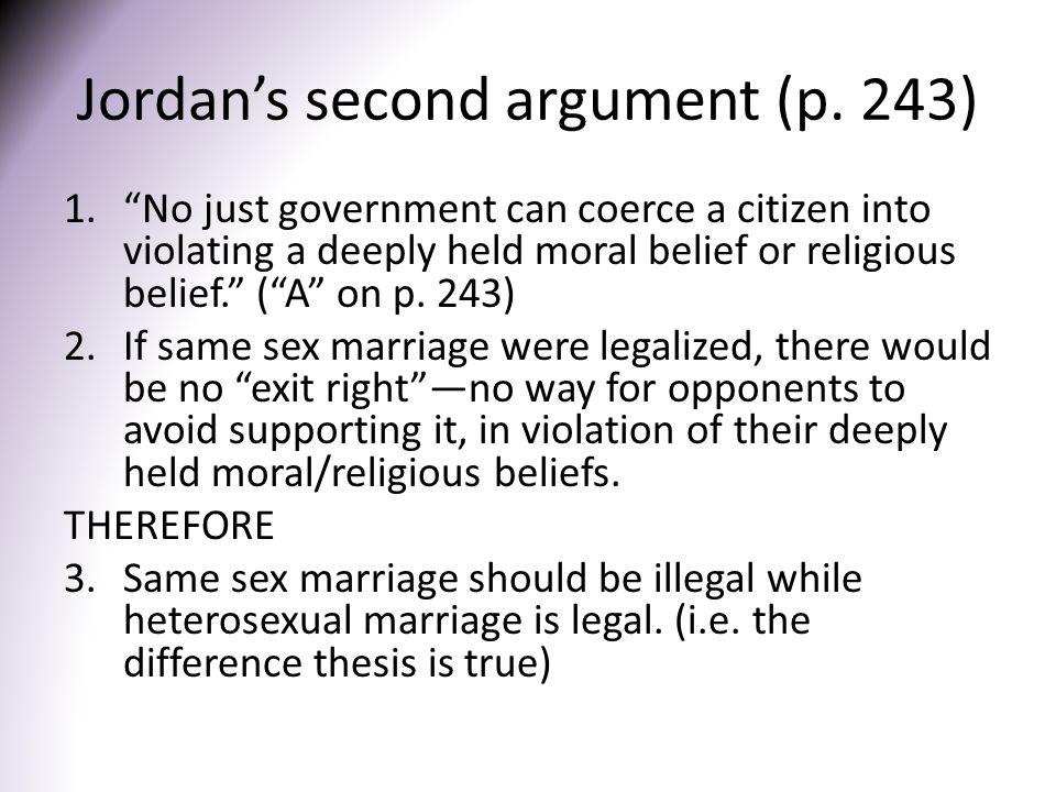 Jordan's second argument (p.