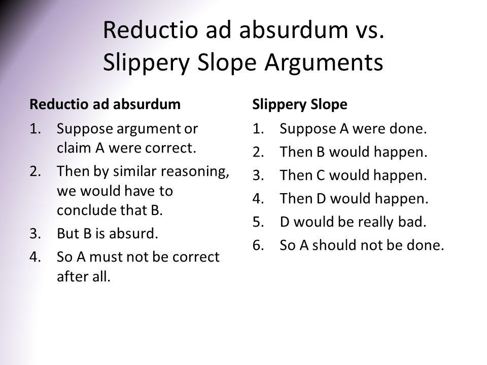 Reductio ad absurdum vs.