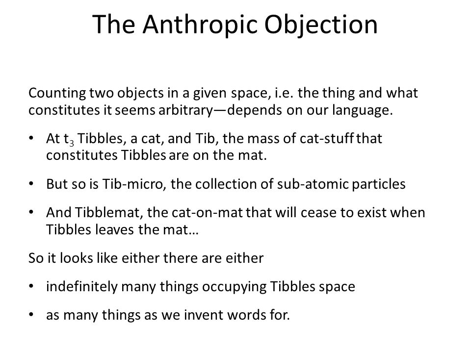 The Grounding Objection Categorical Properties: Intuitively a thing's most fundamental properties, those in virtue of which it has other properties, e