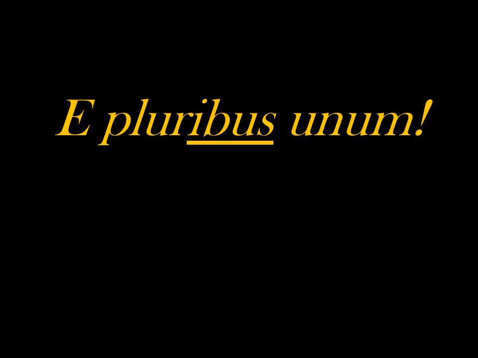 E pluribus unum!