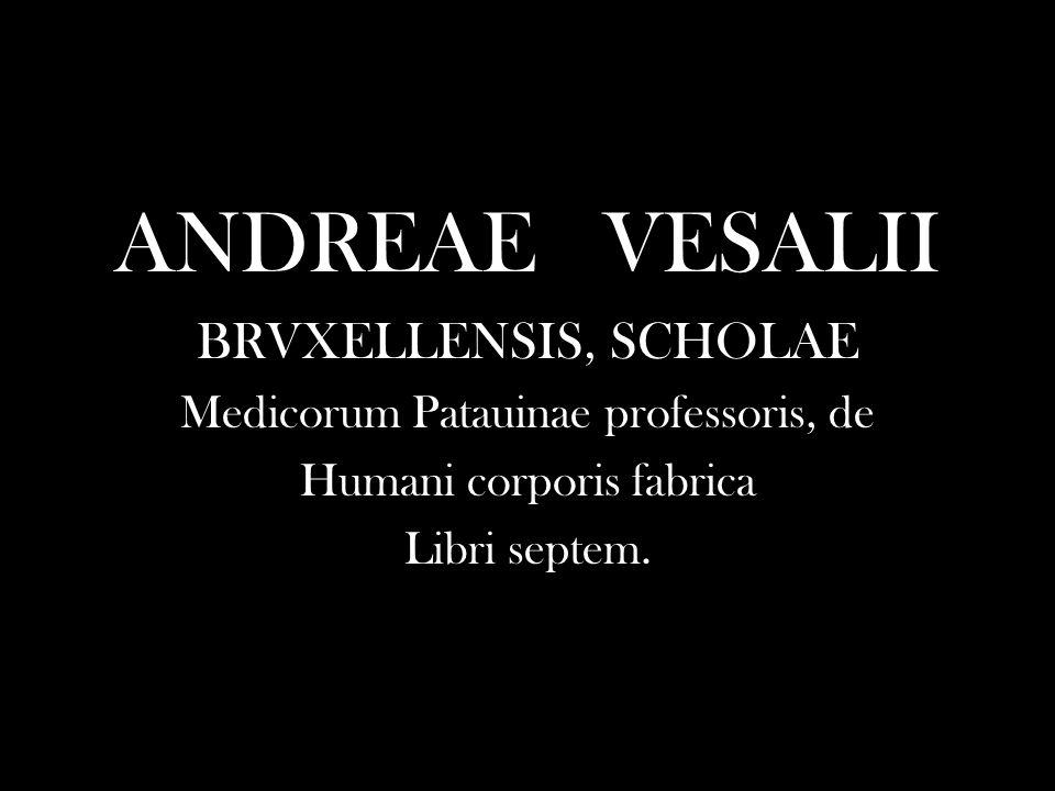 ANDREAE VESALII BRVXELLENSIS, SCHOLAE Medicorum Patauinae professoris, de Humani corporis fabrica Libri septem.