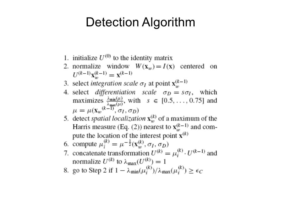 Detection Algorithm