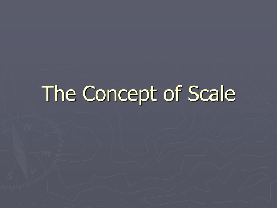 The Concept of Scale