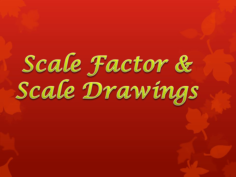 All scale drawings must have a scale written on them.