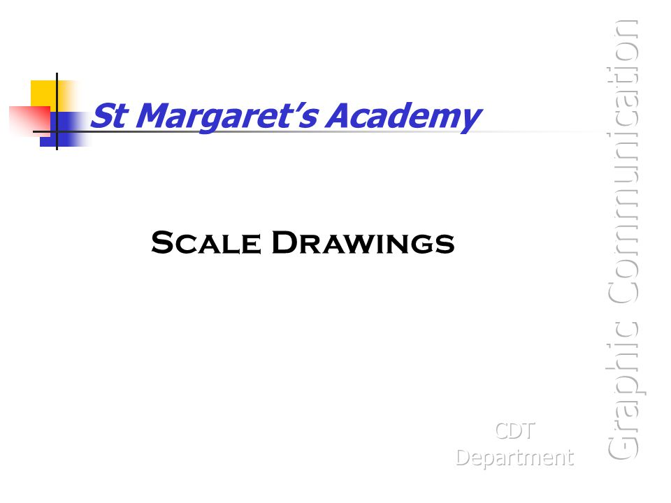 St Margaret's Academy Scale Drawings