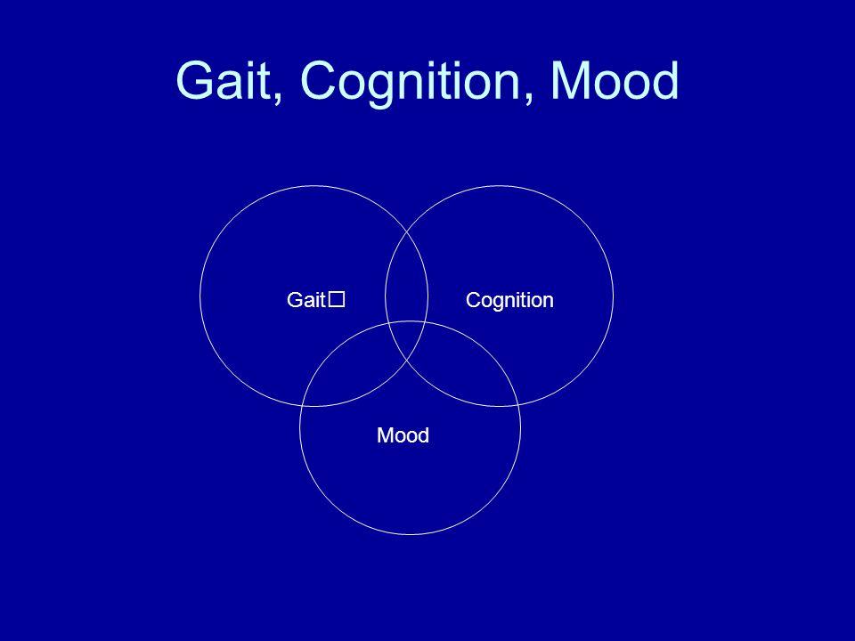 Gait, Cognition, Mood Gait Mood Cognition
