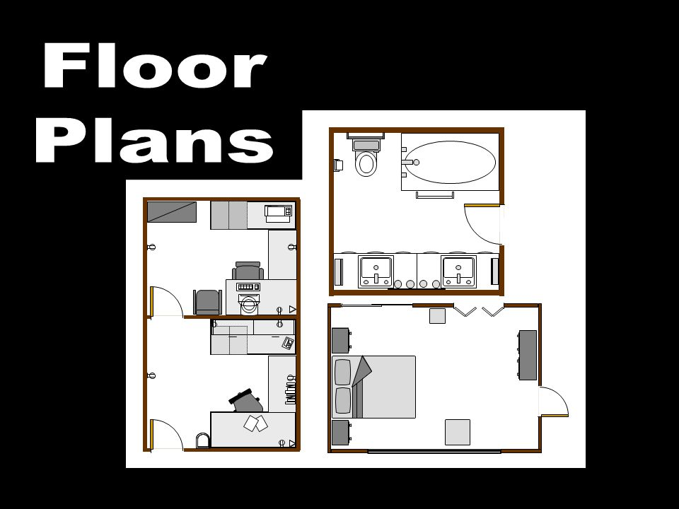 The diagram opposite shows an architect's floor plan for a bathroom.