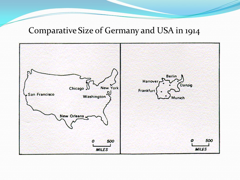Comparative Size of Germany and USA in 1914