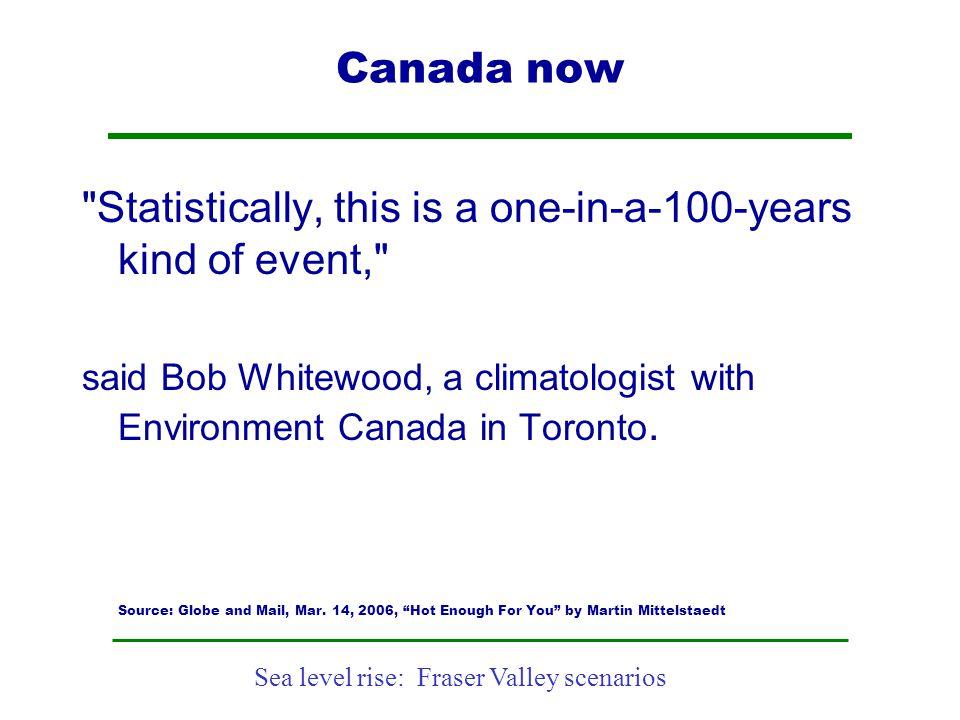 Sea level rise: Fraser Valley scenarios Canada now