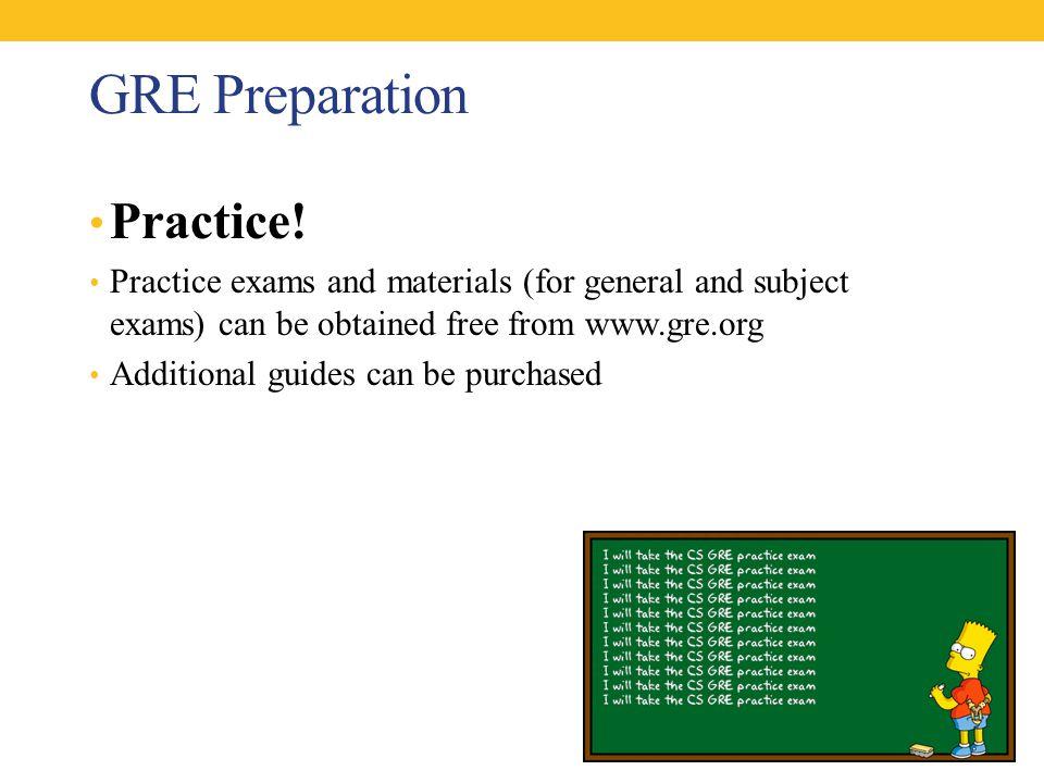 GRE Preparation Practice.