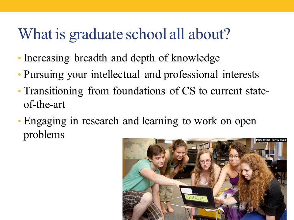 What is graduate school all about.