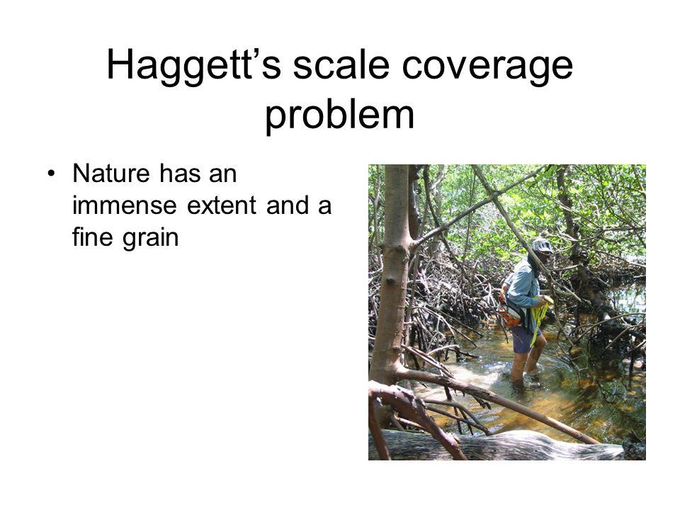 Haggett's scale coverage problem Nature has an immense extent and a fine grain