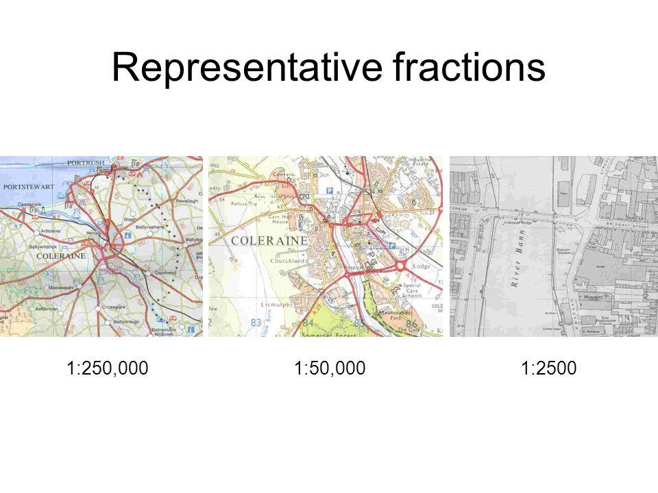 1:250,0001:50,0001:2500 Representative fractions
