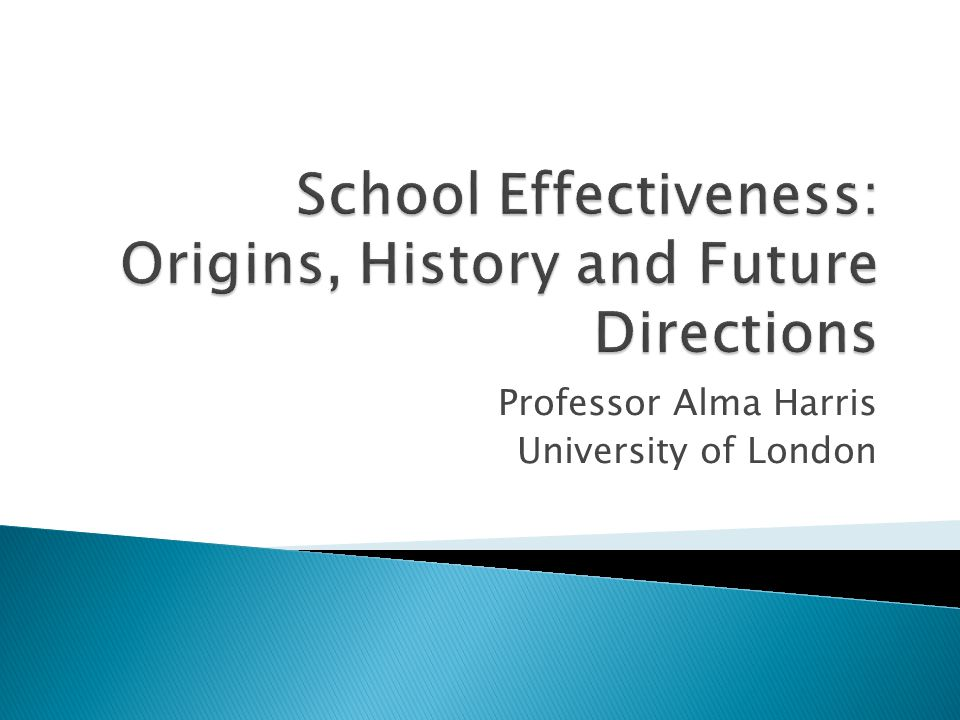 Professor Alma Harris University of London