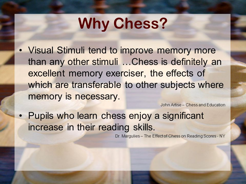 Why Chess.