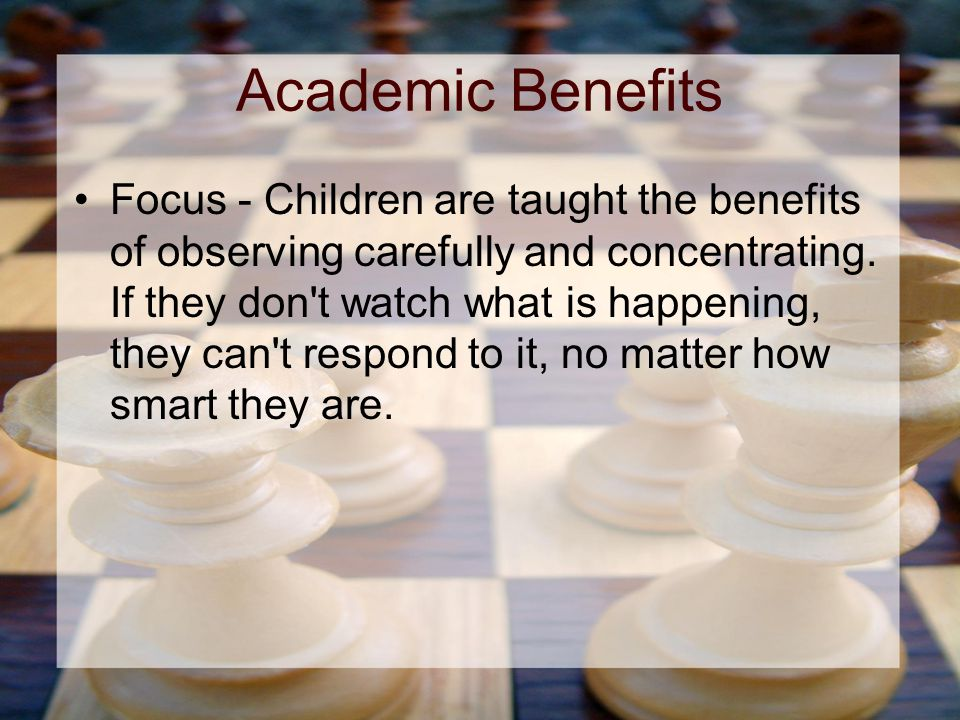 Academic Benefits Focus - Children are taught the benefits of observing carefully and concentrating.