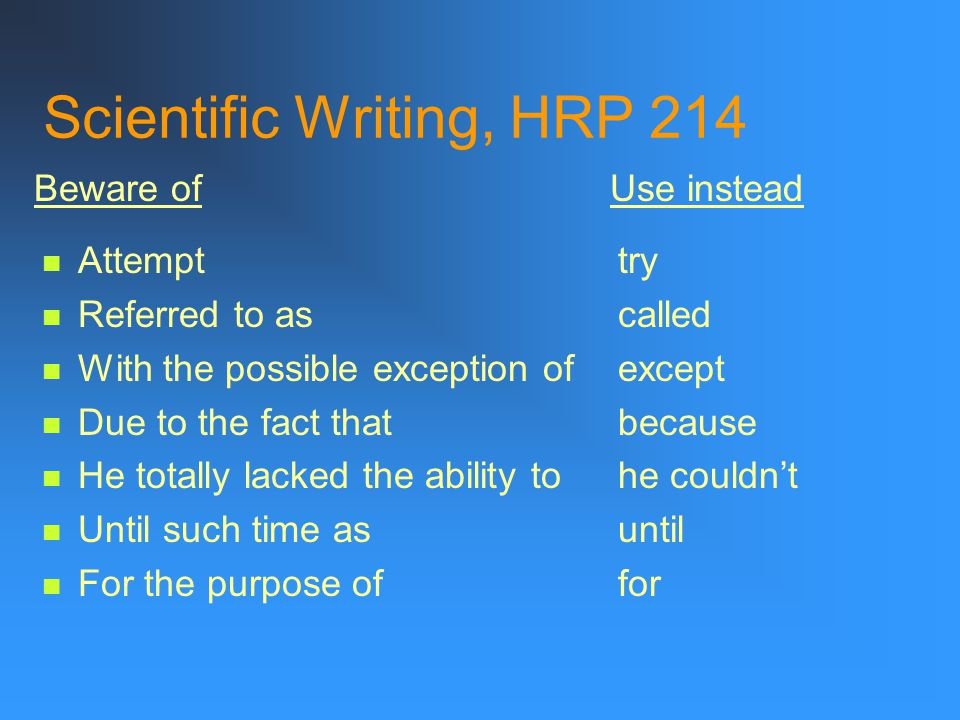Scientific Writing, HRP 214 Assistance help Utilize use Numerous many Facilitate ease Individual man or woman Remainder rest Initial first Implement d