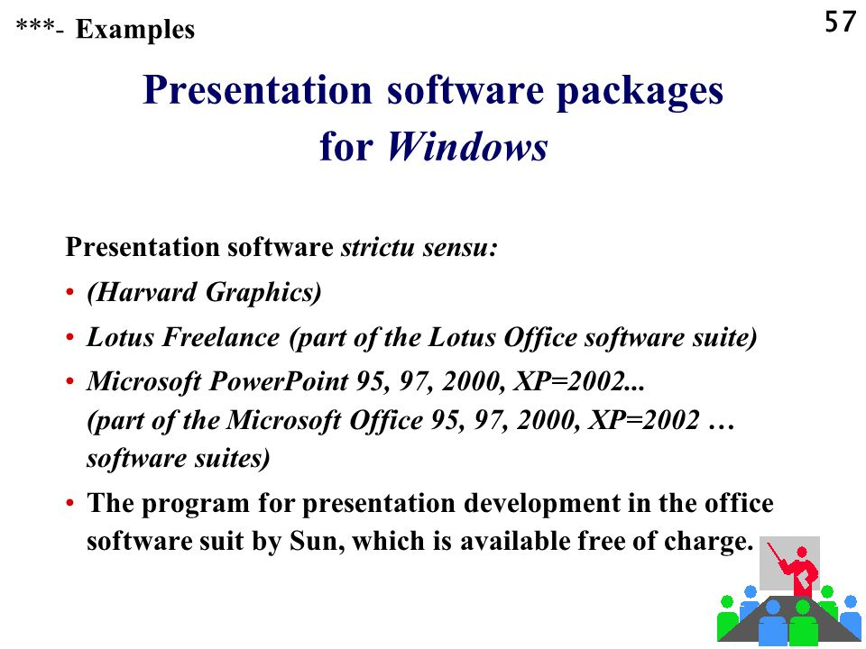 56 Presentation software Specialized presentation software ***-