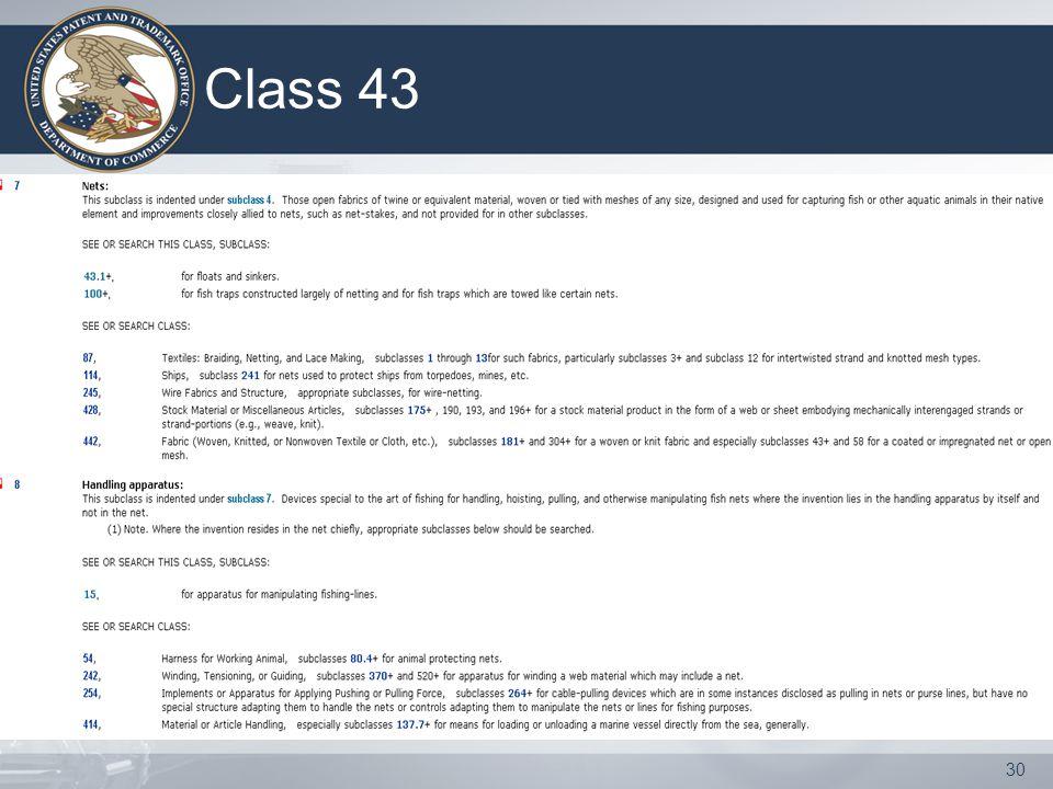 30 Class 43