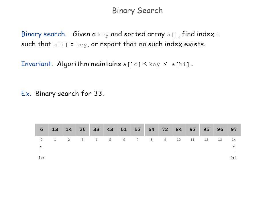82134657109111214130 64141325335143538472939597966 Binary Search lo Binary search.