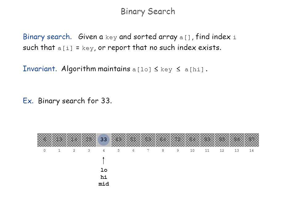 Binary Search Binary search.