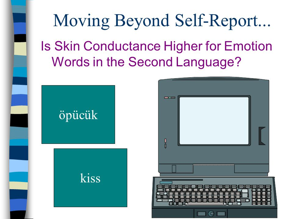 Moving Beyond Self-Report... Is Skin Conductance Higher for Emotion Words in the Second Language.