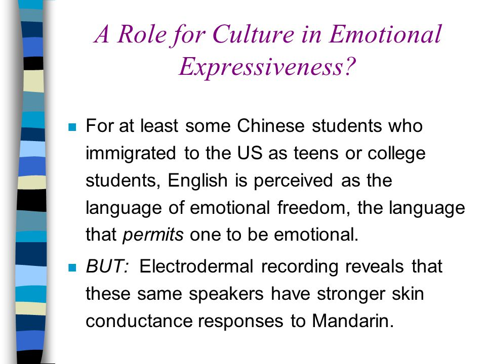 A Role for Culture in Emotional Expressiveness.