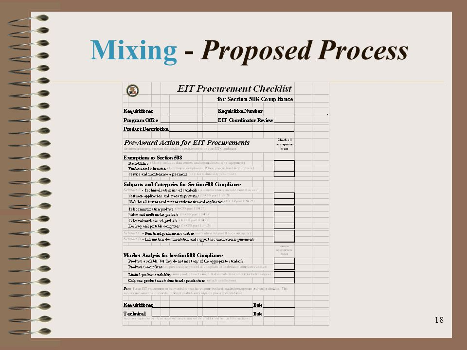 18 Mixing - Proposed Process