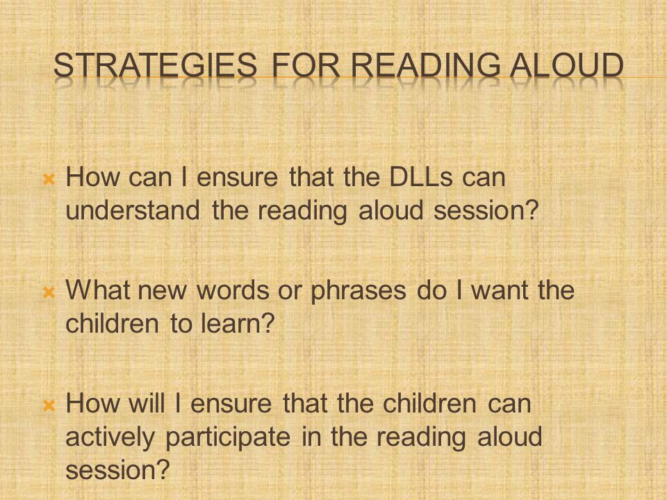  How can I ensure that the DLLs can understand the reading aloud session.