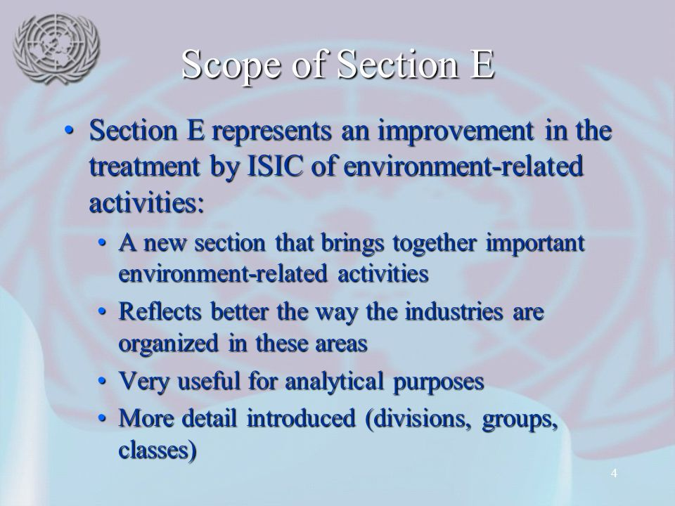 15 Division 39 Remediation activities and other waste management services Remediation activities and other waste management services Covered in division 90 of previous version of ISIC, but not explicitly mentioned in class 9000Covered in division 90 of previous version of ISIC, but not explicitly mentioned in class 9000 Includes:Includes: Decontamination of buildings, plants, mine sites, soil, surface or ground waterDecontamination of buildings, plants, mine sites, soil, surface or ground water Toxic material abatement (asbestos, lead etc.)Toxic material abatement (asbestos, lead etc.) Specialized pollution-control activitiesSpecialized pollution-control activities