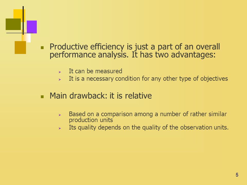 5 Productive efficiency is just a part of an overall performance analysis.