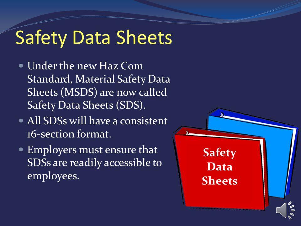 MODULE THREE SAFETY DATA SHEETS (SDSs)