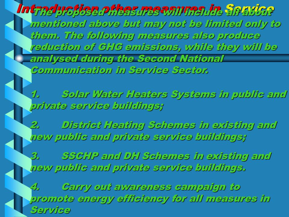 Introduction other measures in Service The proposed measures will include all about mentioned above but may not be limited only to them.