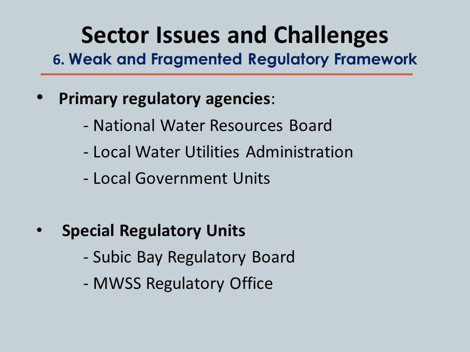 Sector Issues and Challenges 6.
