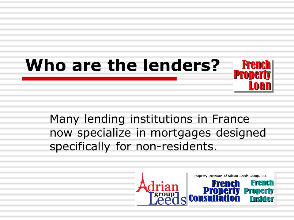 Who are the lenders.